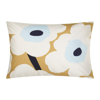 Unikko pillowcase 50x75cm in beige, blue