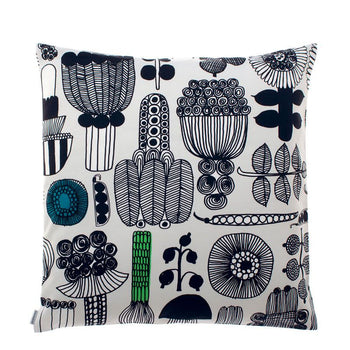 Puutarhurin Parhaat Cushion Cover light grey, black, green 50x50 cm