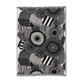 Siirtolapuutarha Cotton Blanket 130x180cm in ecru, black