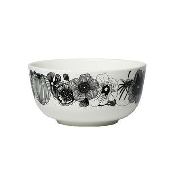 Siirtolapuutarha Bowl 9dl in white, black