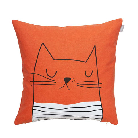 Gustav Cat face Cushion Cover 50cm