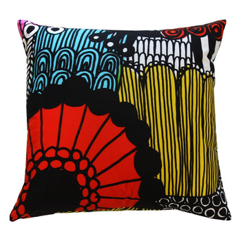 Siirtolapuutarha Cushion Cover 50cm in yellow, red, black