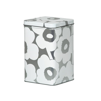 Unikko Tin Box in grey, white
