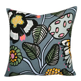 Tiara Linen Cushion 50cm in grey, blue, yellow