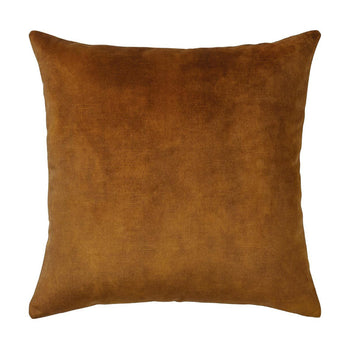 Ava Velvet Cushion 50cm in ochre
