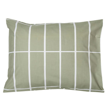 Tiiliskivi Pillowcase 50x70 in grey-green, white