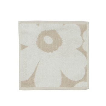 Unikko Facecloth 30x30cm in beige, white