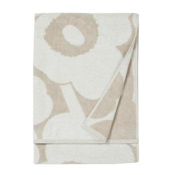 Unikko Bath Towel 70x150cm in beige, white