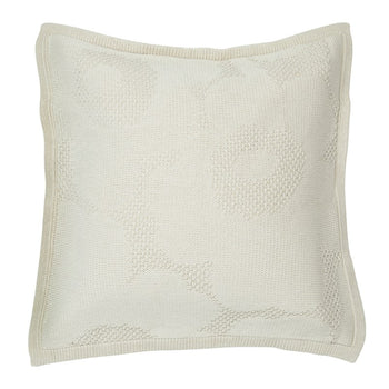 Unikko Knitted Cushion 50cm in off-white