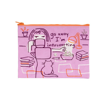 Zipper Pouch - Go Away Introverting