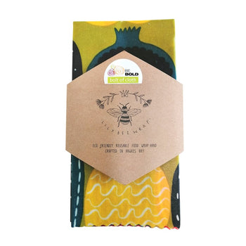 Kompotti Large Beeswax Wrap in green, multi
