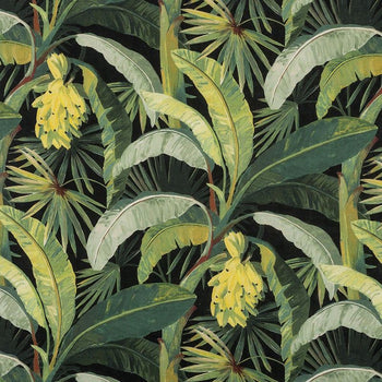 Tropicalia Outdoor Fabric in midnight