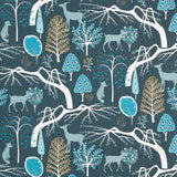 Woodland Fabric in blue