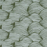 Wave Fabric in green