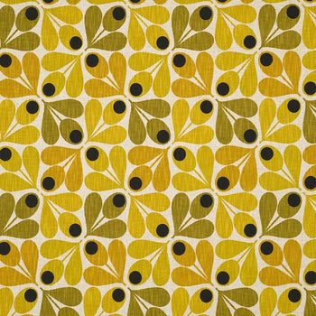 Acorn Cup Fabric in saffron