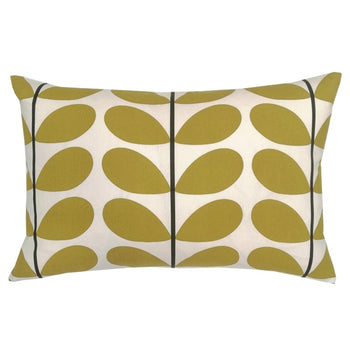 Two Colour Stem Cushion 60x40cm in olive