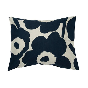 Unikko Pillow Case 50x70/75 cm in cotton, dark blue