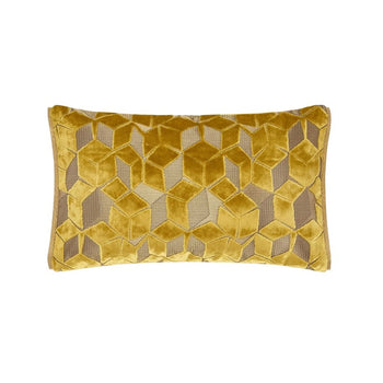 Fitzrovia Ochre Cushion 50x30cm in yellow