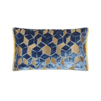 Fitzrovia Cerulean Cushion 50x30cm in blue