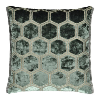 Manipur Jade Cushion 43cm in green