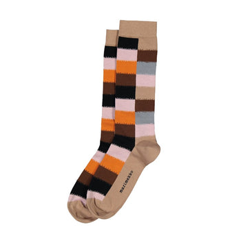 Salla Hirsi Socks in light beige, multi