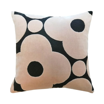 Velvet Spot Flower Cushion 40cm in tea rose