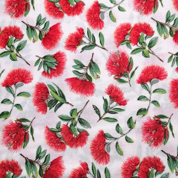 Spot The Pohutukawa Fabric