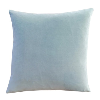 Sea Foam Velvet Cushion 45cm with Linen back