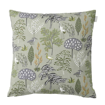 Flora Cushion 50cm in green