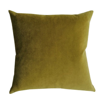 Plush Velvet Cushion 50cm in olive