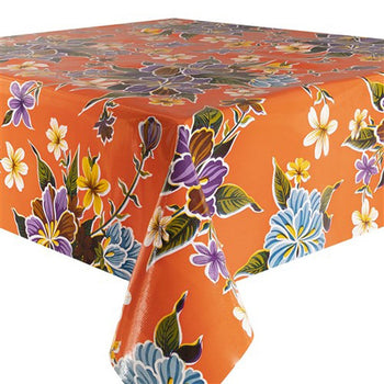 Fortin Oilcloth in orange