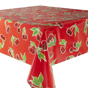 Cherries Oilcloth in red