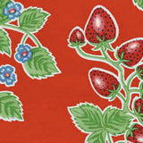 Strawberries Oilcloth in red