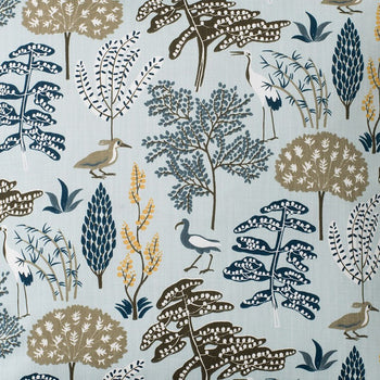 Flora Fabric in blue