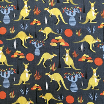 Kangaroo Fabric in grey
