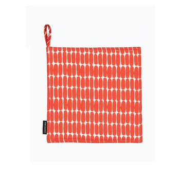 Alku Pot Holder in white, red