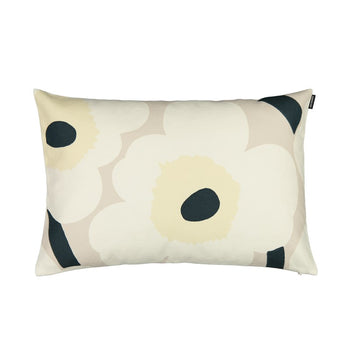 Unikko Cushion 40x60cm in beige, natural white, dark green
