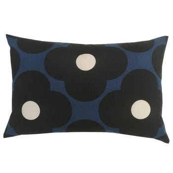 Spot Flower Cushion 60x40cm in dark marine