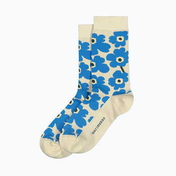 Hieta Unniko Socks in beige, blue, green