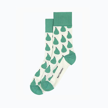 Salla Paaryna Socks in mint, off white, black