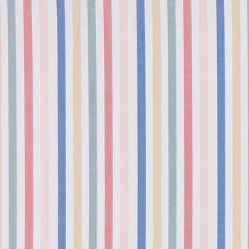 Mid Stripe Fabric in chalk