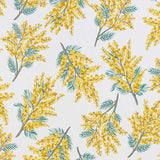 Mimosa Flower Fabric in citrine