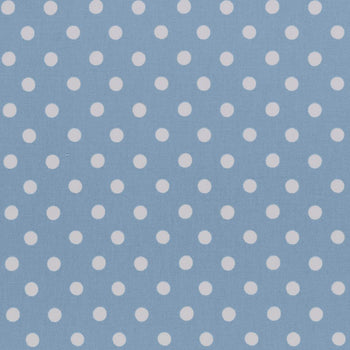 Button Spot Fabric in blue
