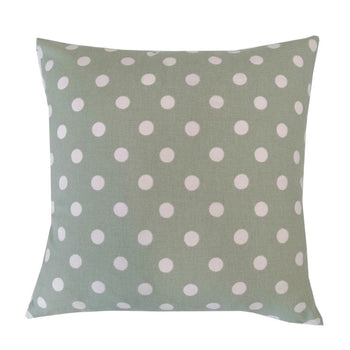 Button Spot Cushion 43cm in aloe