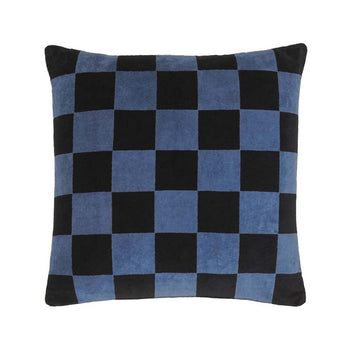 Checkerboard Velvet Cushion 43cm