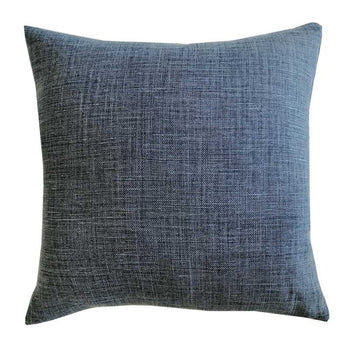 Raw Linen Cushion 50cm in midnight