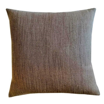 Raw Linen Cushion 50cm in nutmeg
