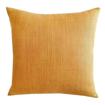 Raw Linen Cushion 47cm in mustard