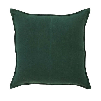 Como Linen Cushion 50cm in forest