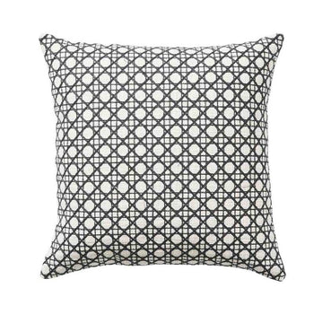 Rattan Cushion 50cm in onyx